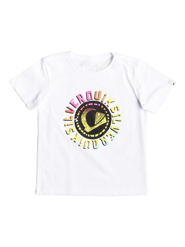 0 Rasta Logo - T-shirt pour garçon 2-7 Blanc EQKZT03294 Quiksilver