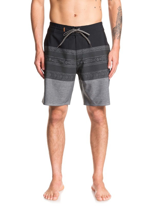 "0 Waterman Liberty Triblock 19"" Boardshorts Black EQMBS03063 Quiksilver"
