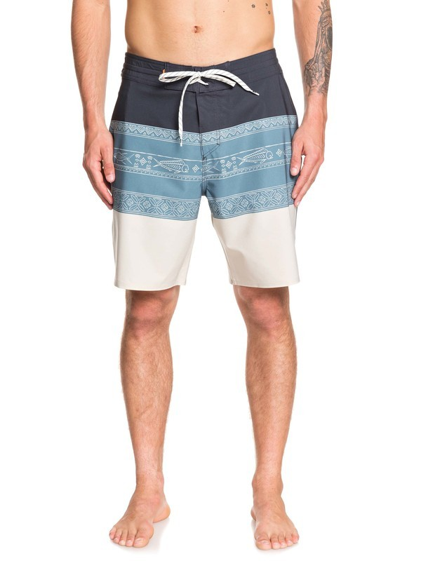 "0 Waterman Liberty Triblock 19"" Boardshorts Grey EQMBS03063 Quiksilver"