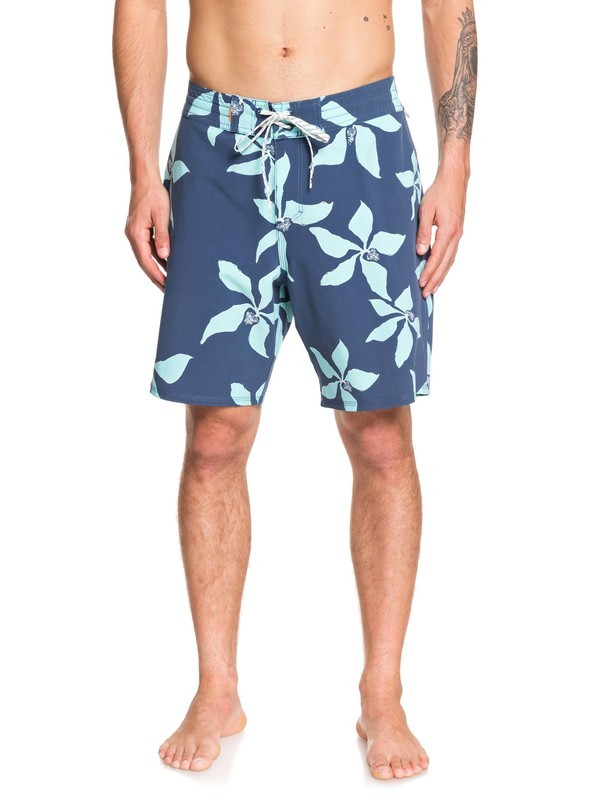 "0 Waterman Falling Blossom 19"" Boardshorts Blue EQMBS03064 Quiksilver"
