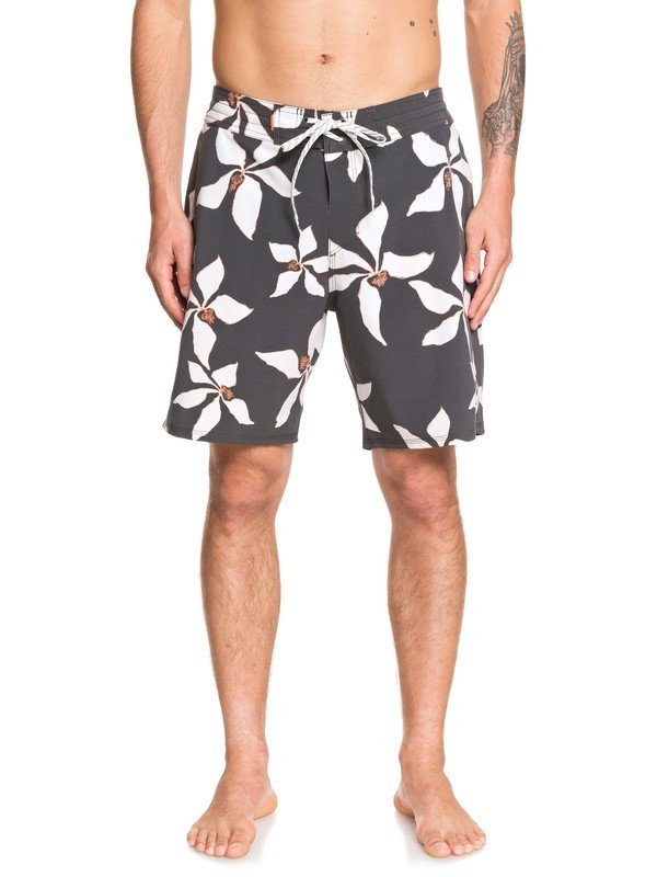 "0 Waterman Falling Blossom 19"" Boardshorts Black EQMBS03064 Quiksilver"