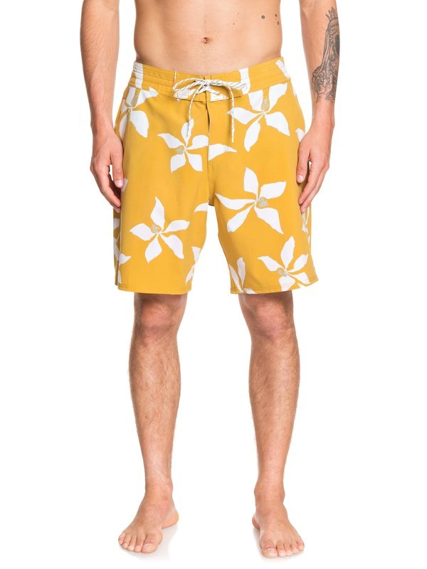 "0 Waterman Falling Blossom 19"" Boardshorts Yellow EQMBS03064 Quiksilver"