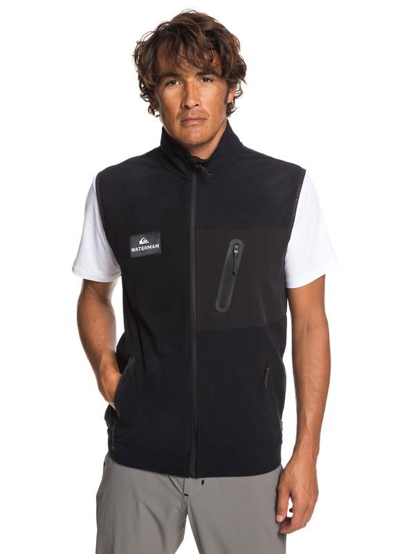 0 Waterman Hidden View - Polar Fleece Gilet for Men Black EQMFT03033 Quiksilver