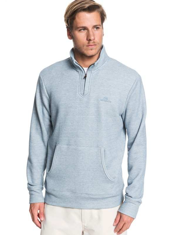 0 Waterman Ocean Nights Half-Zip Mock Neck Sweatshirt Blue EQMFT03045 Quiksilver