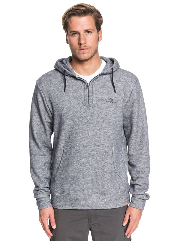 0 Waterman Ocean Nights Half-Zip Hoodie Blue EQMFT03047 Quiksilver
