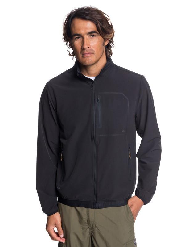 0 Waterman - Veste de paddle imperméable zippée pour Homme Noir EQMJK03016 Quiksilver