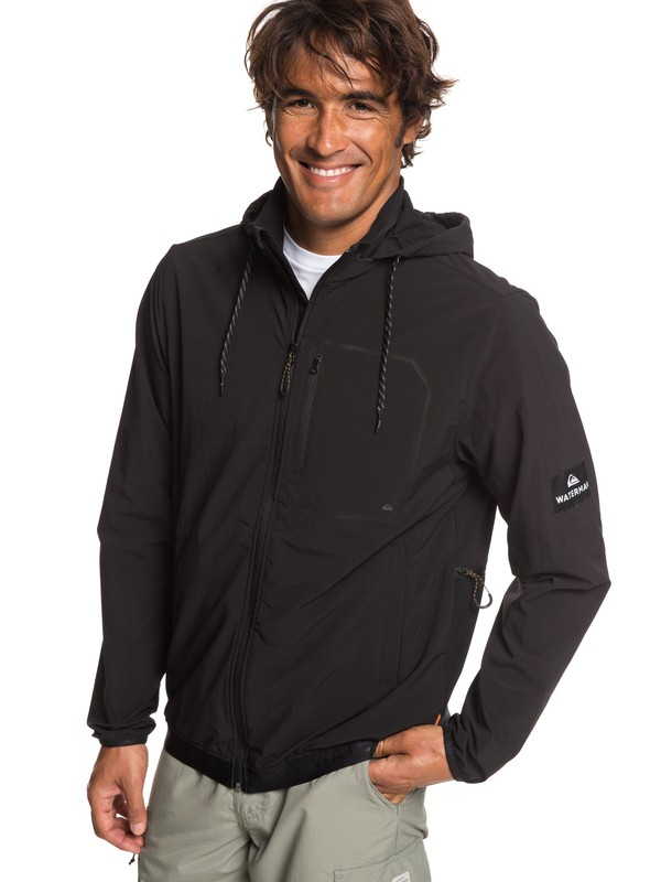 0 Waterman Paddle - Waterproof Zip-Up Paddle Jacket for Men Black EQMJK03019 Quiksilver