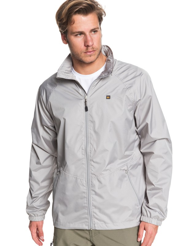 0 Waterman Shell Shock Water-Resistant Windbreaker Grey EQMJK03023 Quiksilver