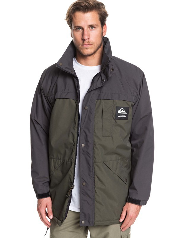 Waterman Swell Chasers - Water-Resistant Mac Jacket for Men  EQMJK03028