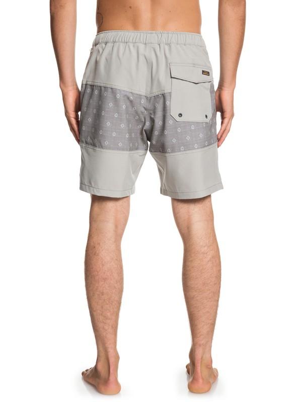 "Waterman Manoa Rain Triblock 18"" - Swim Shorts for Men  EQMJV03048"