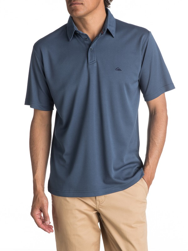 0 Waterman Water Polo Shirt Blue EQMKT03016 Quiksilver
