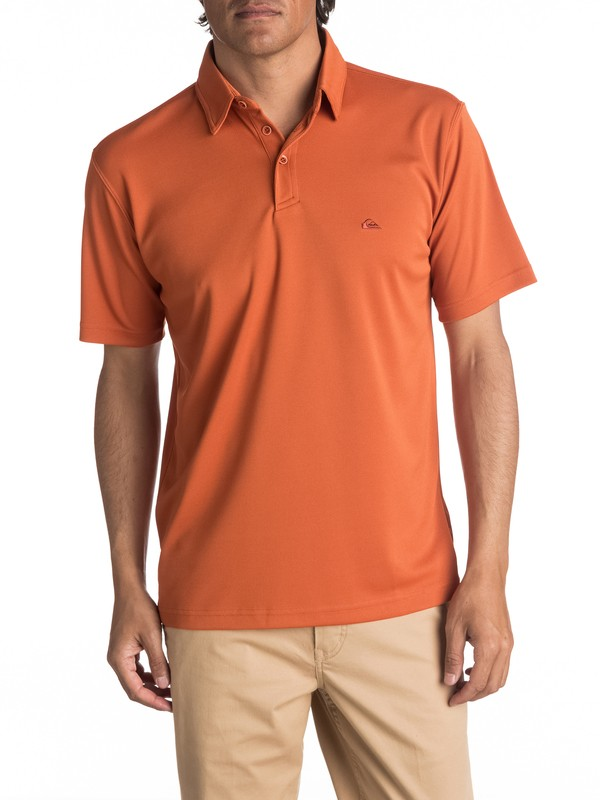 0 Waterman Water Polo Shirt Brown EQMKT03016 Quiksilver