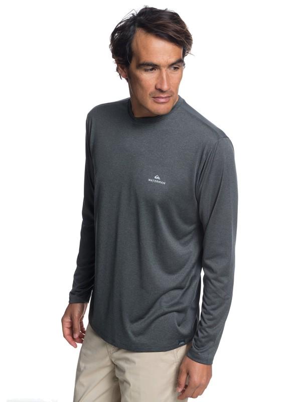 0 Waterman Heat Runner - Camiseta de manga larga para Hombre Negro EQMKT03040 Quiksilver