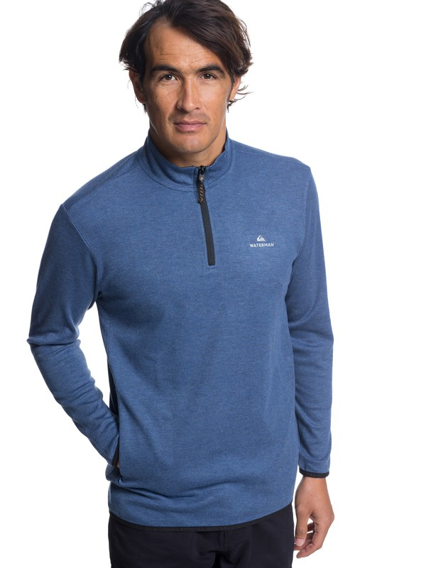 0 Waterman Sea Explorer Long Sleeve Half-Neck Top Blue EQMKT03044 Quiksilver