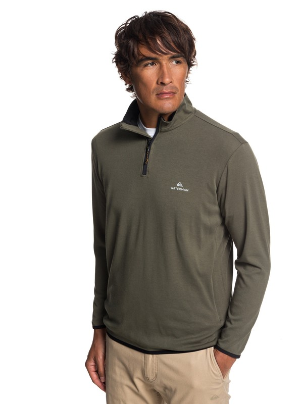 0 Waterman Sea Explorer Long Sleeve Half-Neck Top Brown EQMKT03044 Quiksilver