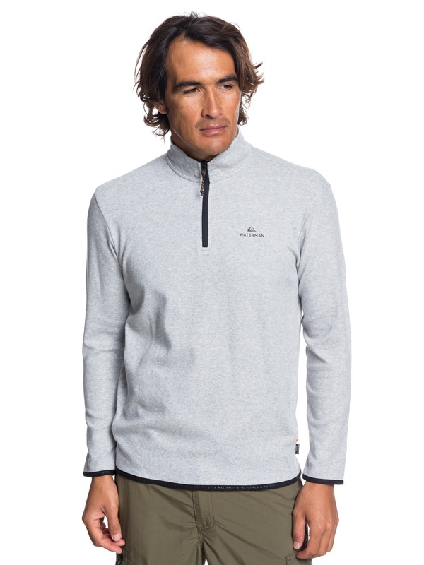 0 Waterman Sea Explorer Long Sleeve Half-Neck Top Grey EQMKT03044 Quiksilver