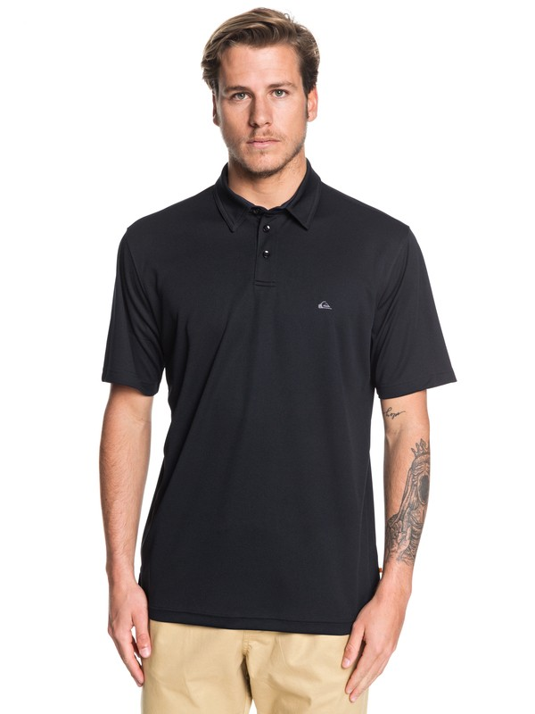 0 Waterman Water 2 Short Sleeve Polo Shirt Black EQMKT03046 Quiksilver