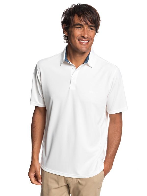 0 Waterman Water 2 Short Sleeve Polo Shirt White EQMKT03046 Quiksilver
