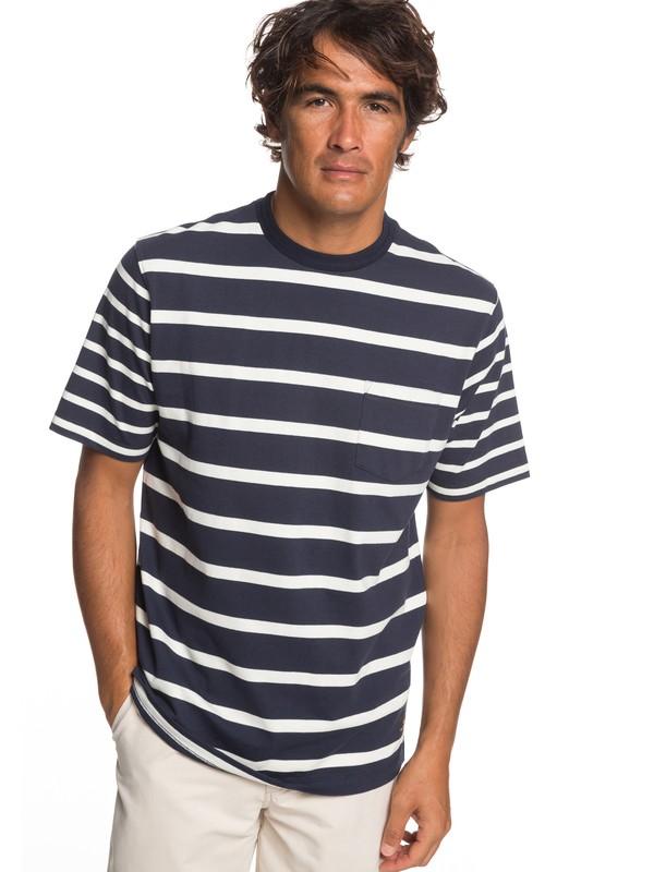 0 Waterman Sea Fight - Camiseta con Bolsillo para Hombre Azul EQMKT03053 Quiksilver