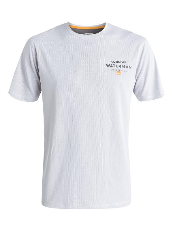 0 Waterman Water Marked - Short Sleeve Rash Vest  EQMWR03002 Quiksilver