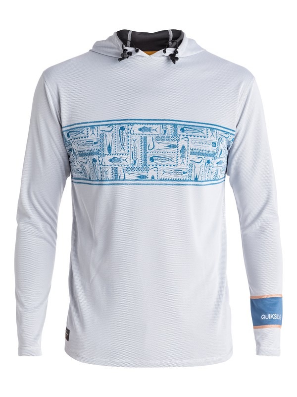 0 Waterman Hooked - Hooded Long Sleeve Rash Vest  EQMWR03008 Quiksilver