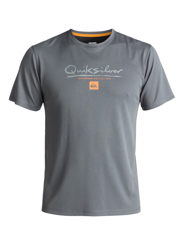 0 Waterman Gut Check - Amphibian UPF 40 Surf T-Shirt for Men Black EQMWR03018 Quiksilver