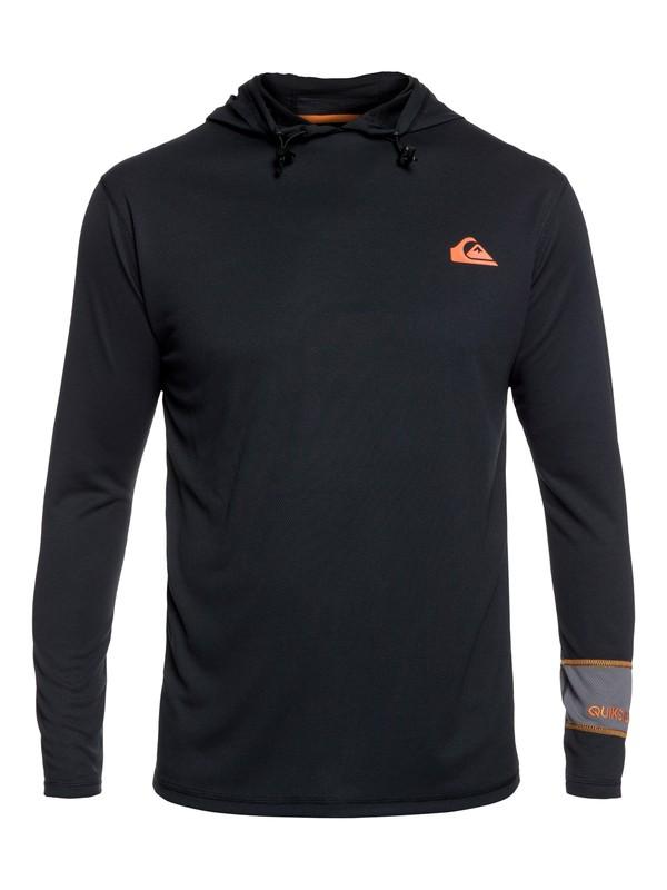 Waterman Hooked Hd - Long Sleeve Hooded Rash Vest for Men  EQMWR03022