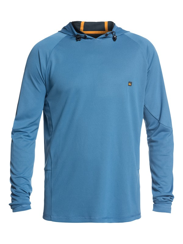 0 Waterman New Hooked Long Sleeve Hooded UPF 50 Rashguard  EQMWR03036 Quiksilver