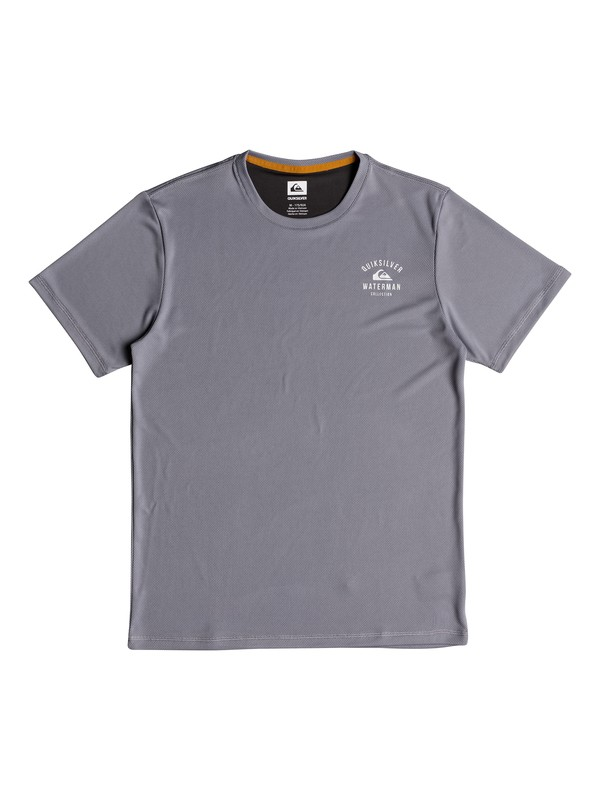 0 Waterman Gut Check Short Sleeve UPF 50 Rashguard Grey EQMWR03040 Quiksilver