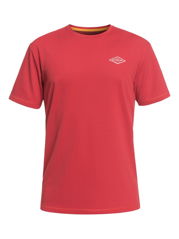 0 Waterman Gut Check Short Sleeve UPF 30 Rashguard Red EQMWR03050 Quiksilver