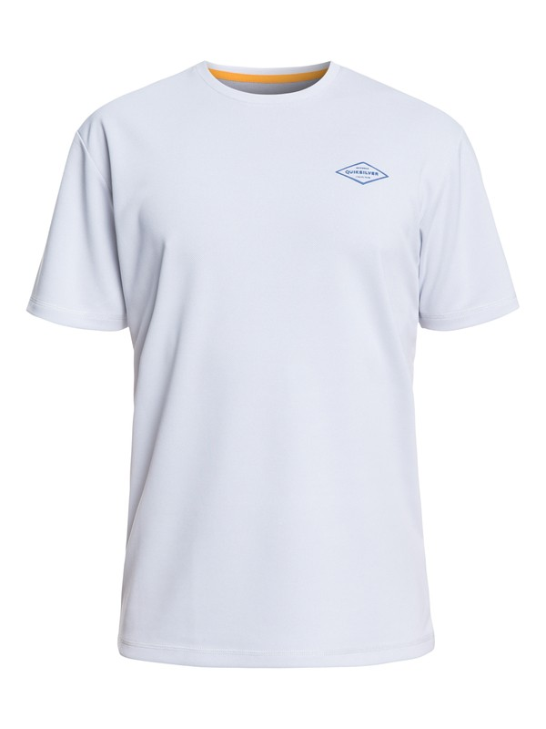 0 Waterman Gut Check Short Sleeve UPF 30 Rashguard White EQMWR03050 Quiksilver