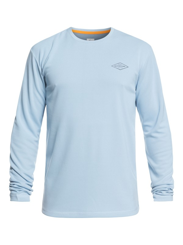 0 Waterman Gut Check Long Sleeve UPF 30 Rashguard Blue EQMWR03051 Quiksilver
