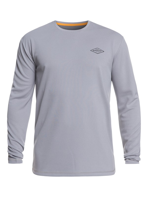 0 Waterman Gut Check Long Sleeve UPF 30 Rashguard Grey EQMWR03051 Quiksilver