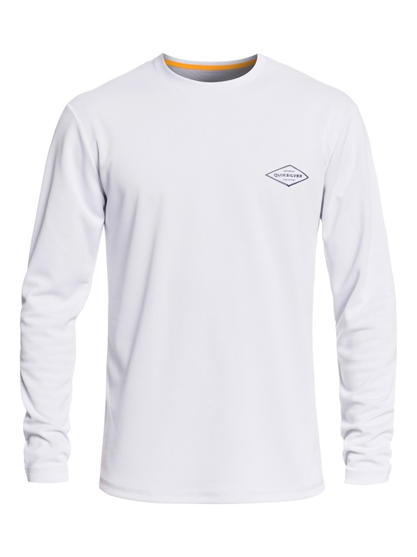 0 Waterman Gut Check Long Sleeve UPF 30 Rashguard White EQMWR03051 Quiksilver