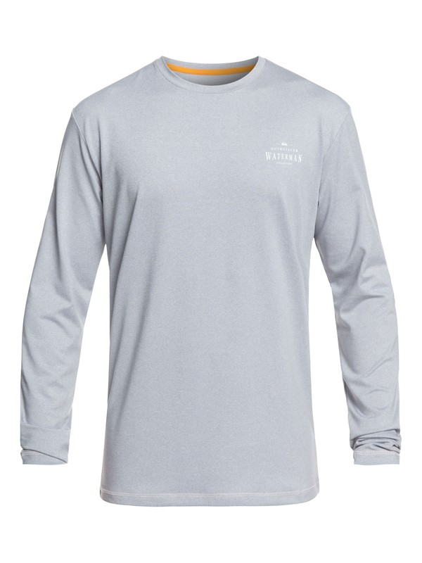 0 Waterman Watermarked Long Sleeve UPF 50 Surf Tee Grey EQMWR03054 Quiksilver