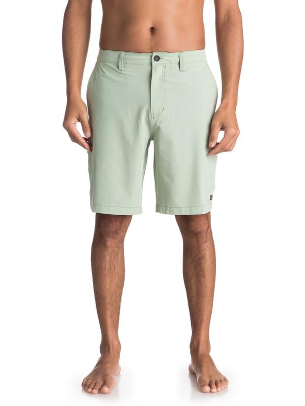 "0 Waterman Vagabond 20"" Amphibian Boardshorts Green EQMWS03050 Quiksilver"