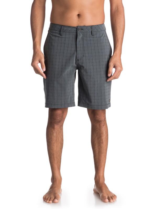 0 Waterman Vagabond Plaid - Amphibian Board Shorts for Men Black EQMWS03051 Quiksilver