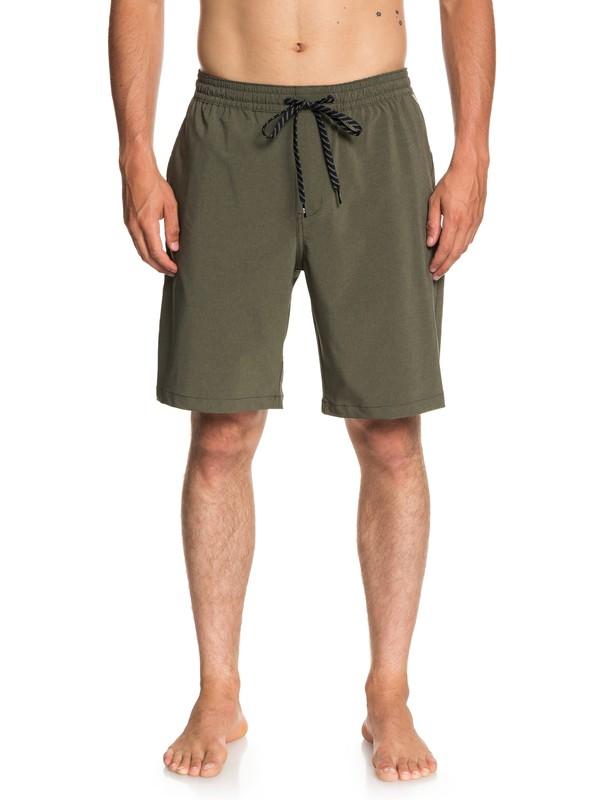 "0 Waterman Suva 19"" Amphibian Shorts Brown EQMWS03071 Quiksilver"