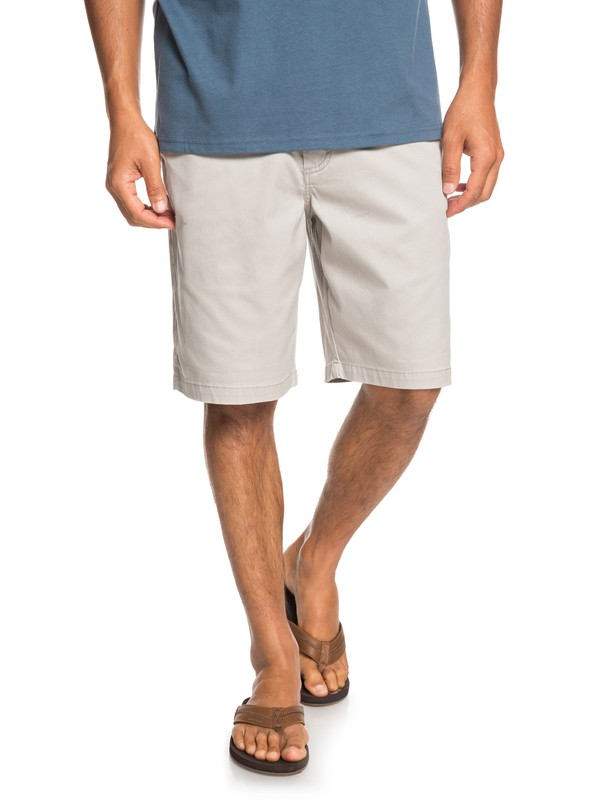 0 Waterman Secret Ocean Chino Shorts Grey EQMWS03075 Quiksilver