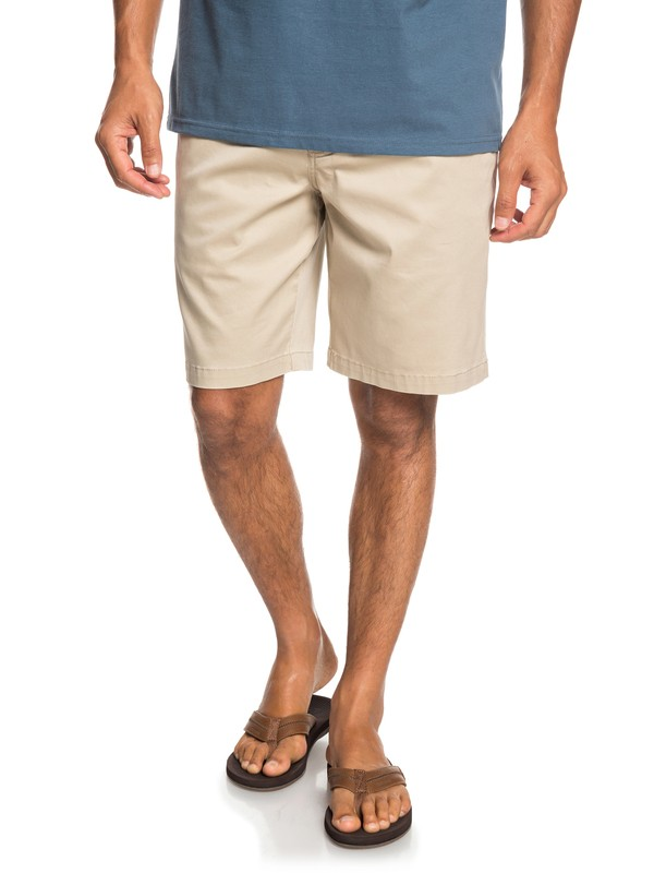 0 Waterman Secret Ocean Chino Shorts Beige EQMWS03075 Quiksilver