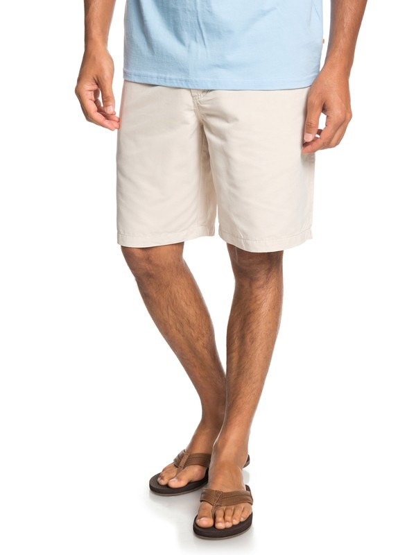 "0 Waterman Maldive 20"" - Chino Shorts for Men Grey EQMWS03076 Quiksilver"