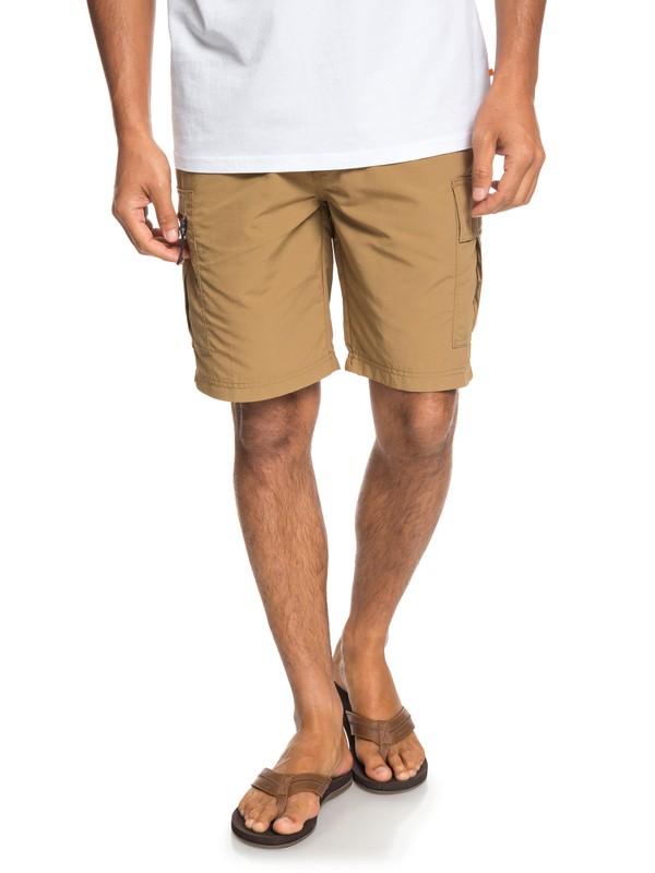 0 Waterman Skipper - Cargo Shorts for Men Brown EQMWS03077 Quiksilver