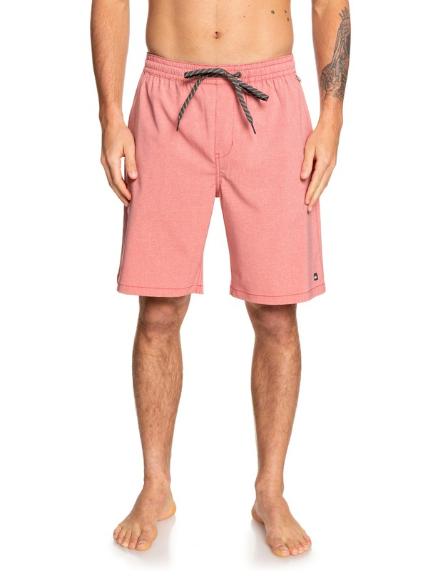 "0 Waterman Suva 20"" - Amphibian Board Shorts for Men Red EQMWS03091 Quiksilver"