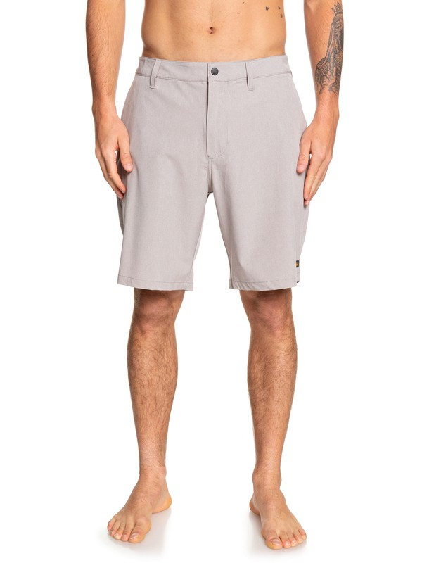 "0 Waterman Backwater 20"" - Amphibian Board Shorts for Men Grey EQMWS03093 Quiksilver"