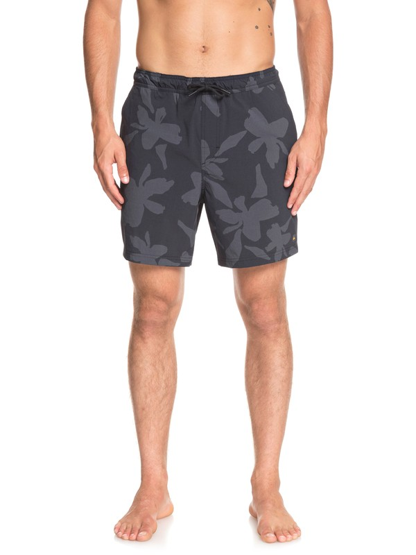 0 Waterman Rapid Waikiki Nights Elasticized Shorts Black EQMWS03094 Quiksilver