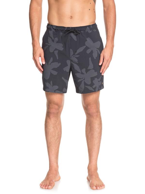 0 Waterman Rapid Waikiki Nights Elasticized Shorts Black EQMWS03094 Quiksilver