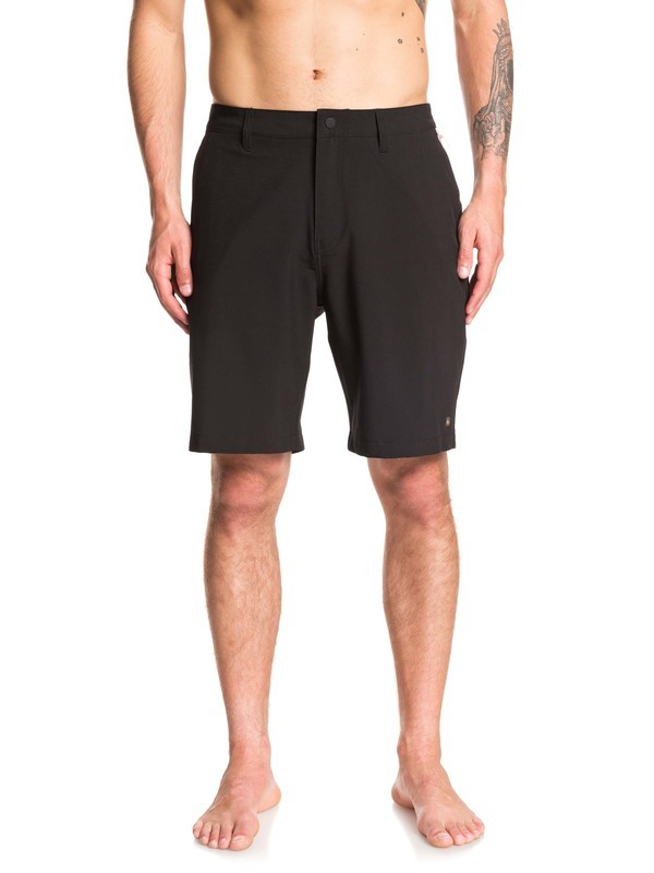 "0 Waterman Backwater 20"" Amphibian Boardshorts Black EQMWS03098 Quiksilver"