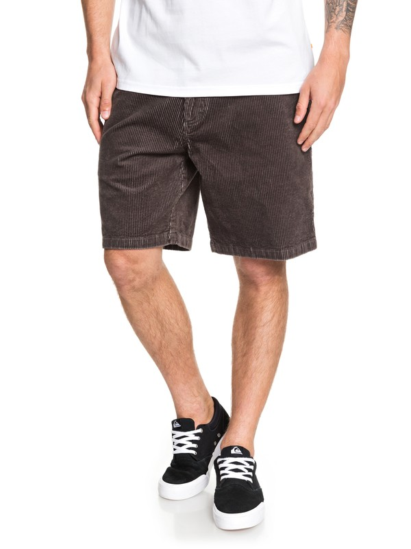 0 Waterman Secret Corduroy Shorts Black EQMWS03101 Quiksilver