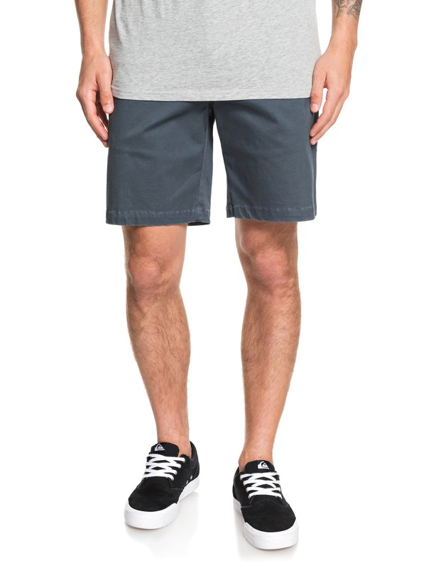 "0 Waterman Secret Ocean 20"" Chino Shorts Blue EQMWS03110 Quiksilver"