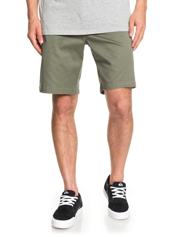 "0 Waterman Secret Ocean 20"" Chino Shorts Green EQMWS03110 Quiksilver"